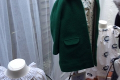 Green coat for the winter